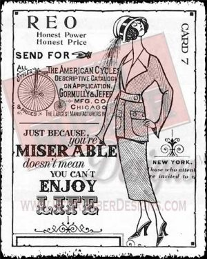 Enjoy Life Unmounted Rubber Stamp from Red Rubber Designs