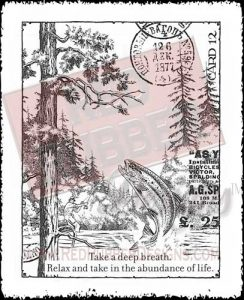 Relax And Fish Unmounted Rubber Stamp from Red Rubber Designs