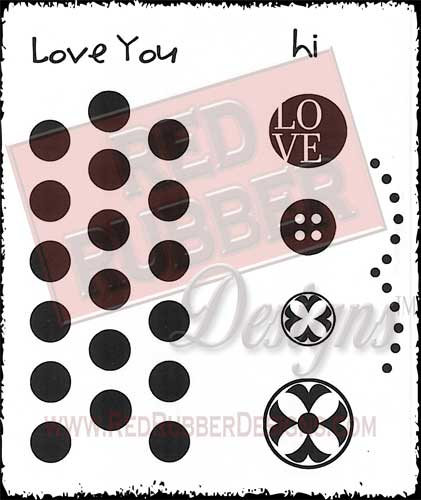 Circles Of Love Unmounted Rubber Stamps from Red Rubber Designs