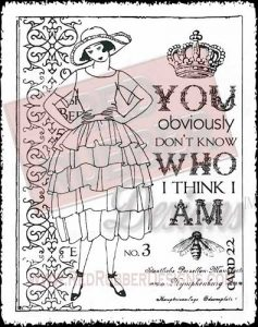Who Am I Unmounted Rubber Stamp from Red Rubber Designs